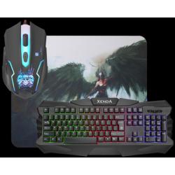 Defender Xenda gaming komplet (tipkovnica, miška in podloga)