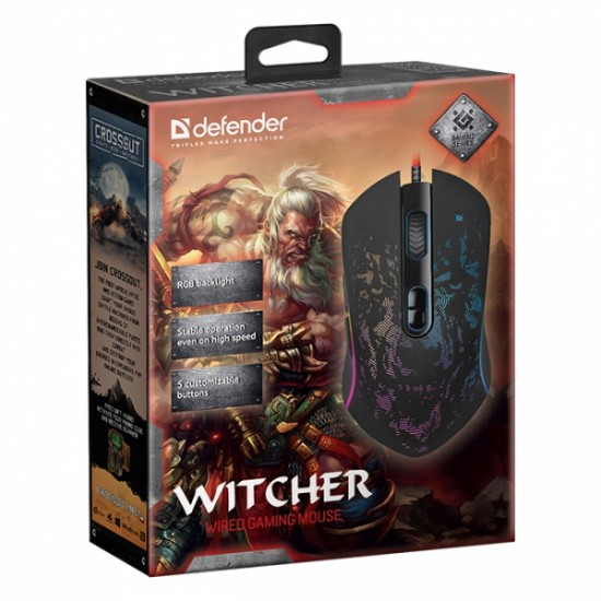 Defender Witcher GM-990, RGB, USB, žična