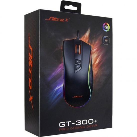 INTER-TECH Nitrox GX-300+ RGB USB žična optična