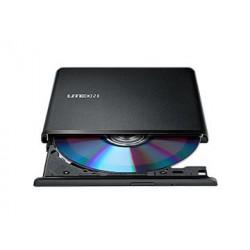 Liteon ES1 DVD-RW 8X USB Ultra-Slim zunanji zapisovalnik, črn