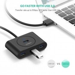 USB hub adapter Ugreen USB 3.0 4-Ports (20290)