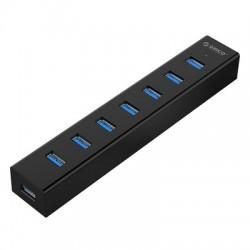 USB hub s 7 vhodi, USB 3.0, črn, ORICO H7013-U3