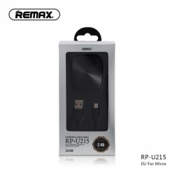 Polnilec REMAX 2.4 A Dual & Micro USB kabel RP-U215 EU, 1m