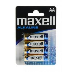 Baterija Maxell AA (LR6), 4 kos, alkalna