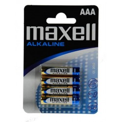 Baterija Maxell AAA (LR03), 4 kos, alkalna