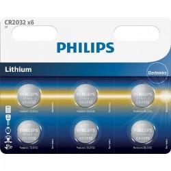 Philips baterija CR2032, 3V, 6 kosov