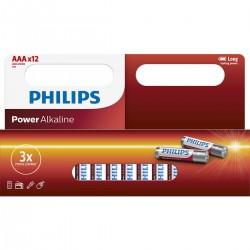 Philips baterija LR03 (AAA) Power Alkaline, Blister 12kos