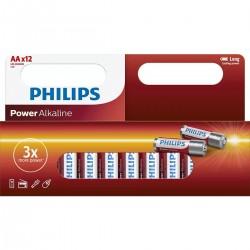 Philips baterija LR6 (AA) Power Alkaline, Blister 12kos