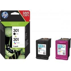 HP komplet 301 črna in barvna (N9J72AE)