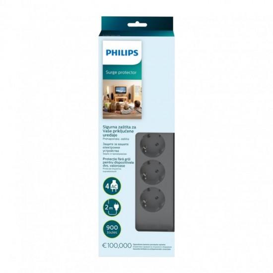 Philips prenapetostna zaščita s 4 vtičnicami (SPN3140A/58)