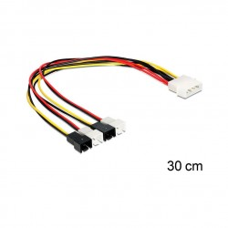 Delock adapter DC 2x Molex M - 6pin za grafične kartice PCI-express 0,15m