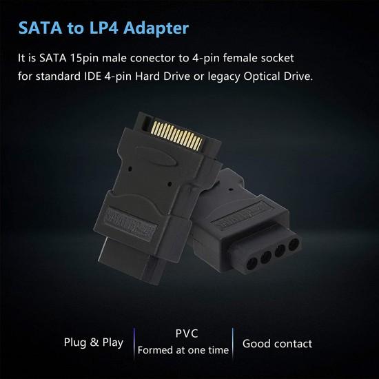 SATA adapter SATA 15-Pin Male/Molex Female