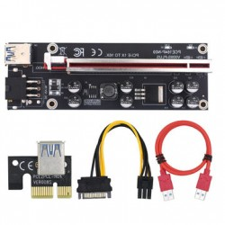 PCI-E Riser Card VER 009S Plus PCI-E 1X to 16X LER 009 Card Extender PCI Express USB 3.0 Cable Power
