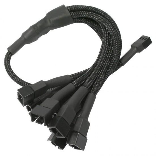 Nanoxia 3-Pin Molex to 6x3-Pin Adapter, 60cm, črn