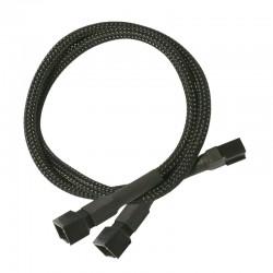 Nanoxia kabel 3-Pin Y-Kabel, 60cm, črn
