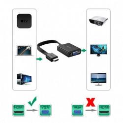 Ugreen HDMI na VGA + 3.5MM Audio+MicroUSB konverter (40248)