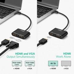 Ugreen USB-C na HDMI+VGA adapter (50738)