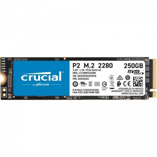 Crucial P2 250GB 3D NAND NVM PCIe M.2 SSD (CT250P2SSD8)