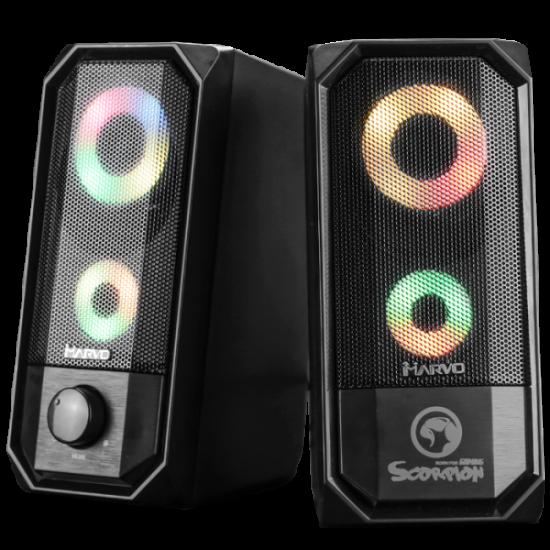 Marvo SG-265 Stereo 2.0 Led Gaming zvočniki
